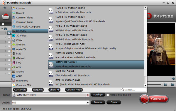 Windows Media Player format