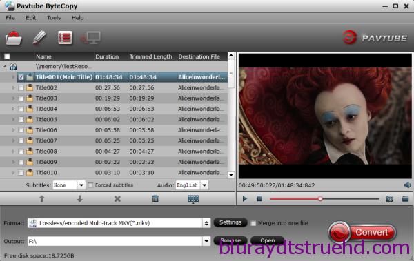 backup blu-ray dvd to lossless mkv