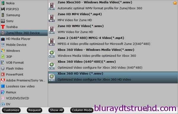 xbox 360 wmv format