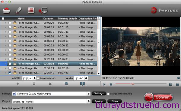 Convert Blu-ray, DVD to Galaxy Note 4