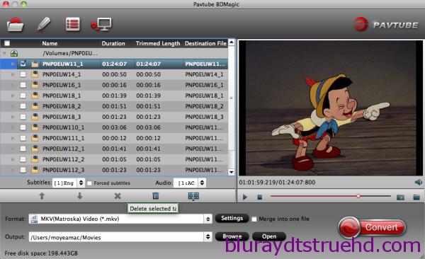 Convert Blu-ray DVD to MKV on Mac