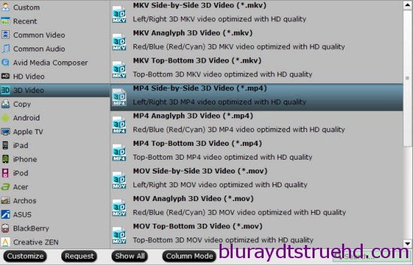 3D SBS MP4 format